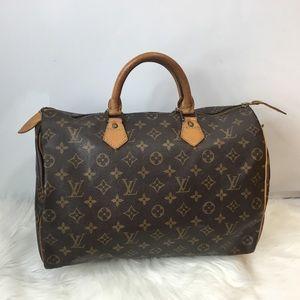 100%Authentic Louis Vuitton 1989 Vintage Speedy 35